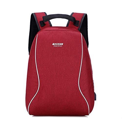 YOOKNEL Rugzak, USB-aansluiting, waterdicht, rugzak, schooltas, zakelijke reis, ruimte voor 14-15,6 inch