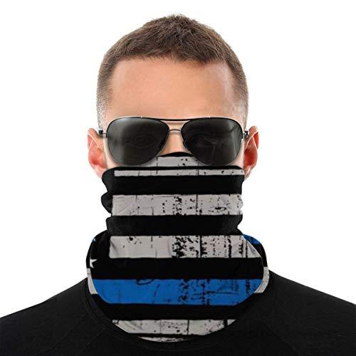 Bandeau, écharpe Bandana sans couture élastique en détresse mince ligne bleue, série de chapeaux de sport de résistance aux UV randonnée équitation motocyclisme