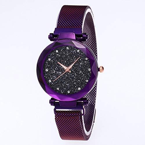 EisEyen Damen Uhren Frauen Mode Diamant schneiden Sternenhimmel Zifferblatt Mesh Riemen Armband Armbanduhr Bracelet Women Watches
