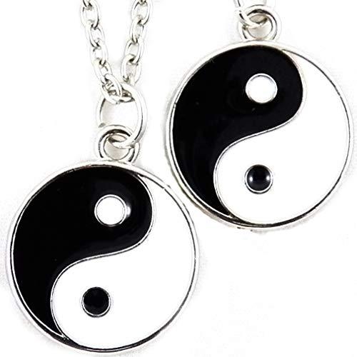 AKIEE Collar Yin Yang para Hombre Mujer Niños Niñas Colgante Taichi Collar Pareja Mejores Amigos Best Friends - Collar Ying Yang (Yin Yang Unido)