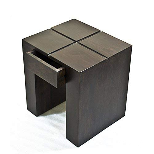 Daintree Cento Solid Wood Side Table (Dark Walnut Finish)
