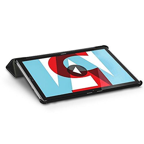 EasyAcc Hülle für Huawei Mediapad M5 10.8/10.8 Pro, Ultra Schlank Schutzhülle Case mit Auto Sleep/Wake Up Funktion und Zwei Einstellbarem Standfunktion für Huawei Mediapad M5 10.8 Zoll 2018, Schwarz - 6