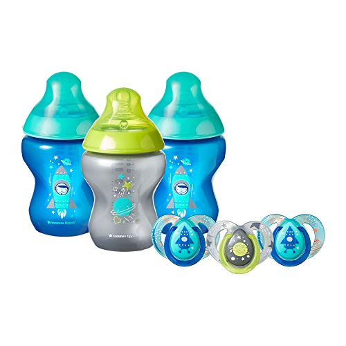 Tommee Tippee Closer to Nature Boldly Go Decorated Gift Set - 3x Baby Bottles  Louisiana