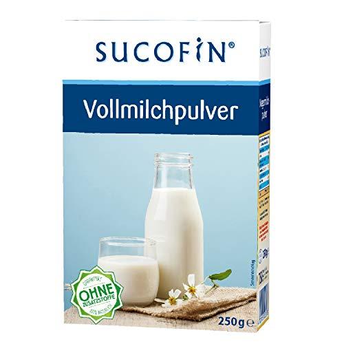 SUCOFIN Vollmilchpulver 9er Pack, sprühgetrocknet, 9 x 250 g, 100% natürlich, ohne Zusatzstoffe, Alternative zu frischer Milch