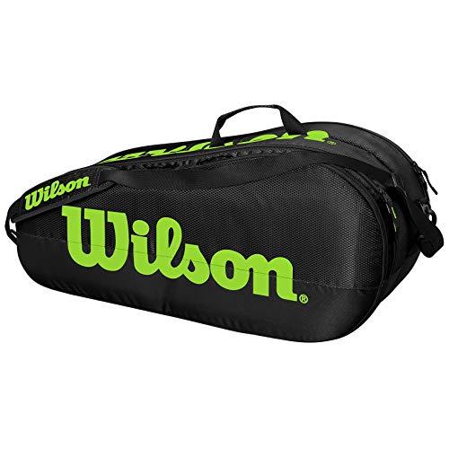 Wilson Team 2 Comp Raquetero, Adultos Unisex, Black/Green...