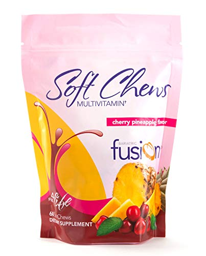 Bariatric Fusion Cherry Pineapple Bariatric Multivitamin Soft Chews for Post Bariatric Surgery Patients Including Gastric Bypass and Sleeve Gastrectomy, 60 Count, 1 Month Supply
