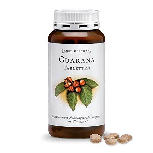 Sanct Bernhard Guarana-Tabletten mit Guarana, Vitamin C 250 Tabletten