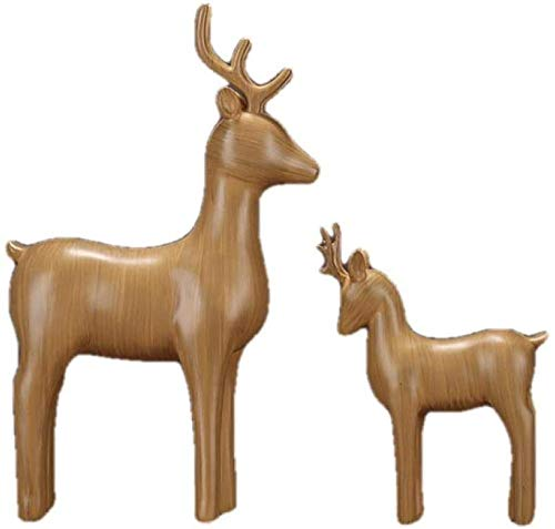 WPXBF Statue Ornaments Sculptures Deer Figurineresin Mom And Kid Statue Decor Adornment Accessories For Mother S Day And Birthday