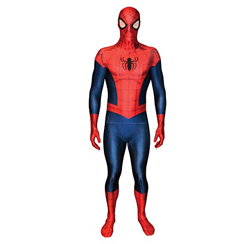 "Morphsuits Costume da Spiderman, Large 5'3"" - 5'9"" (159cm - 175cm)"