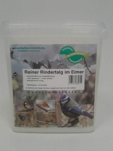 Anhaltiner Premiumfutterspezialist Rindertalg 4kg Eimer, Nicht gesalzen