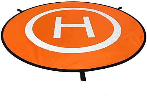 Drone Landing Pad Pieghevole Drone Parcheggio Parte Anteriore e Posteriore Landing Mat Impermeabile Drone Heliport con Borsa di Immagazzinaggio Diametro 55 Cm Pratico Design e Durevole