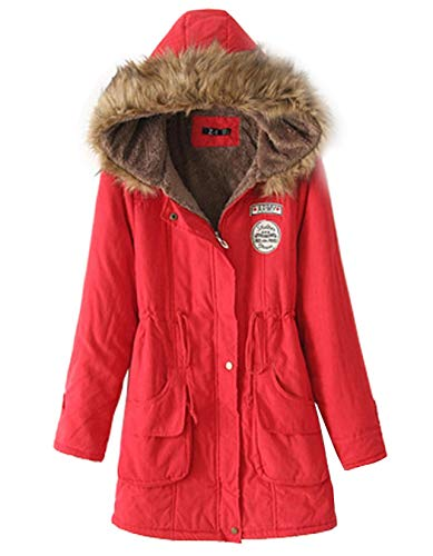 Damesjas met capuchon, normale lak, winter voorzakken, coat lange mouwen, chic met ritssluiting, knopen voor outdoor, trendy young modieuze jas