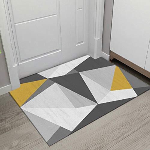 OPLJ Alfombra antideslizante para puerta de salón con impresión geométrica, alfombra para ducha, baño, dormitorio, cocina, alfombra A1, 40 x 60 cm+40 x 120 cm