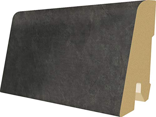 EGGER Home Sockelleiste dunkel grau L304 Fußleiste | Bodenleiste 2,4m passt zu EHL006 Schiefer anthrazit