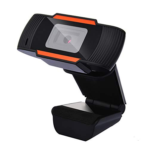 Guffo HD Webcam, Webcam PC-Laptop-Kamera mit Mikrofon,Für Skype, FaceTime, Hangouts, etc, PC/Mac/ChromeOS/Android, Widescreen-Videoanruf-und Aufnahmeunterstützung für Konferenzen (Orange)