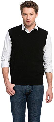 Citizen Cashmere Sleeveless Men V Neck Sweater Vest - 100% Cashmere (2XL, Navy) 42 110-03-05
