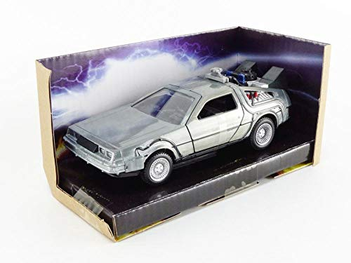 Jada Toys Back to The Future Time Machine 1:32 Die-cast Car, Toys for Kids and Adults