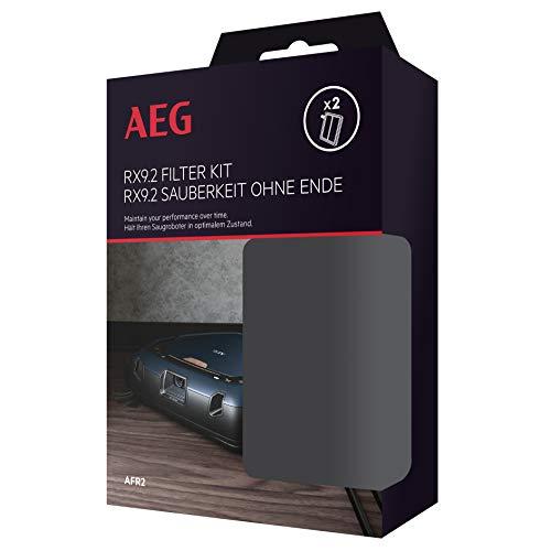 AEG AFR2 Kit de 2 filtros, Compatible con Aspirador Robot RX9.2, Negro