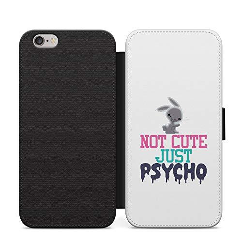 No es lindo pero psycho niñas cuero cartera teléfono caso y cubierta para iPhone 7 +