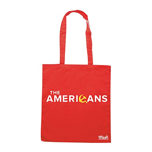 MUSH Borsa THE AMERICANS SERIE TV TITOLO - Rossa - FILM by Dress Your Style