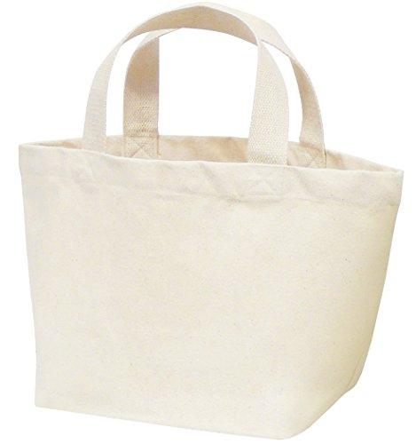 丸玉工業 トートバッグ 手提げ袋 厚手コットン Sサイズワイド ナチュラル