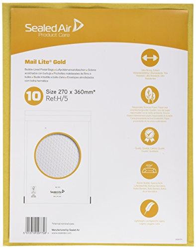 Sealed air 103027479 - Sobre para uso general (29 x 42 cm, 85 g/mq, 10 unidades, 29x42 cm),color marrón