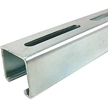 Online Metal Supply Galvanized Steel 4 Dimension Slotted Strut Channel 2.125 x 2.125 x 18 ga x 72 inches