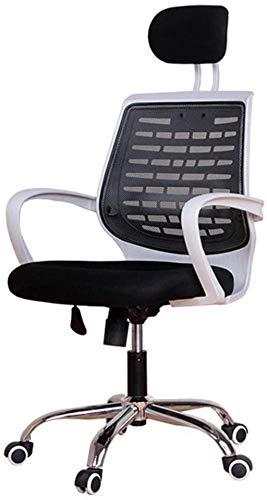 YONGYONGCHONG Silla de oficina ergonómica para oficina y apoyabrazos y respaldo lumbar Silla de malla reclinable para computadora (color negro)