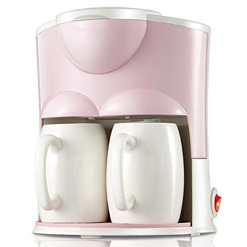 Professionele koffiemachine, Volautomatisch koffiezetapparaat, Schakelaar met indicatielampje, Eén machine Twee toepassingen/Kan koffie/thee zetten, Gemakkelijk schoon te maken,Pink