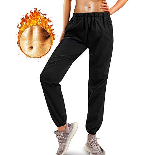 Junlan Sauna Suit for Women Sweat Sauna Pants Weight Loss Jacket Gym Workout Vest Sweat Suits for Women Tiktok