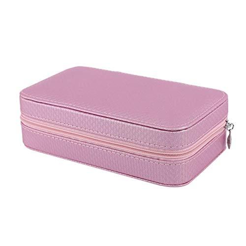 JOMOSIN SNH0216 - Joyero portátil europeo para pendientes pequeños, caja de almacenamiento para joyas de viaje