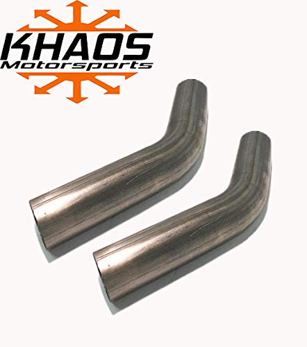2.5' 45 Degree Exhaust Elbow Mandrel Bend Aluminized Steel 16ga 2 Pack USA