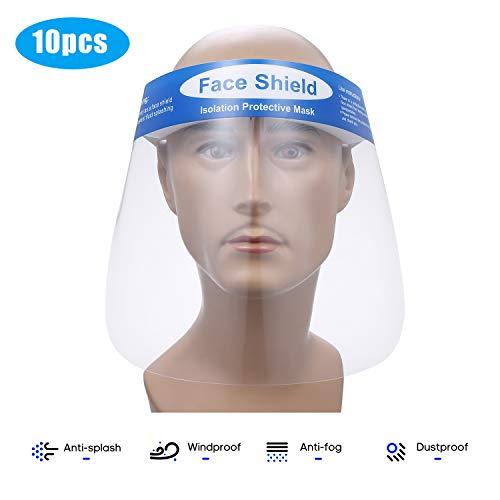 10 Face Shields Transparent Anti-Splash Splatter Protective Cover Now $15.99