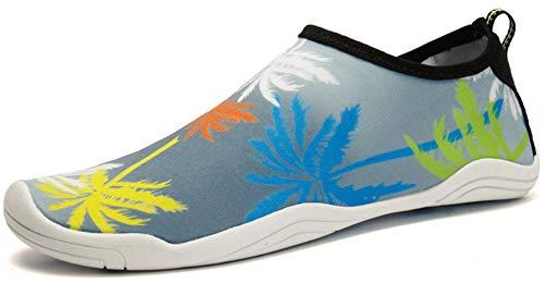 JACKSHIBO Erwachsene Barfuß Schuhe Weich Wassersport Schuhe Damen Schwimmschuhe Surfschuhe Badeschuhe, 59Gelb 39 EU
