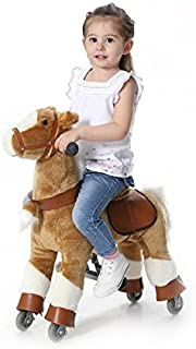 Wisamic Mechanical Rocking Horse, Ride on Pony Toy Giddy Up Horse for Kids 3-6 Years Old