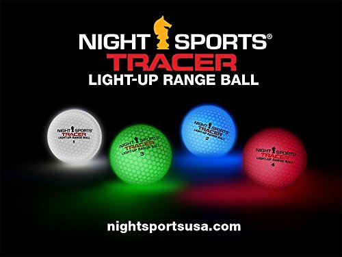 Fantastic Deal! Night Sports Tracer Light Up Range Balls x 50 Pack