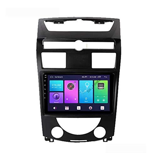 Android 10.0 Car Stereo Unidad principal de doble Din Compatible con SsangYong Rexton 2007-2016 Navegación GPS Pantalla táctil de 9 pulgadas Reproductor multimedia MP5 Receptor de video y radio con 4