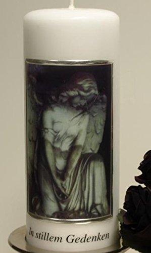 Trauerkerze Gedenkkerze Trauerengel In stillem Gedenken. 20 cm. 1 Stück