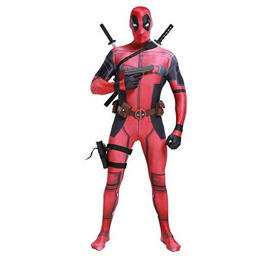 Disfraz de Hombre Deadpool para Cosplay, Disfraz de Halloween
