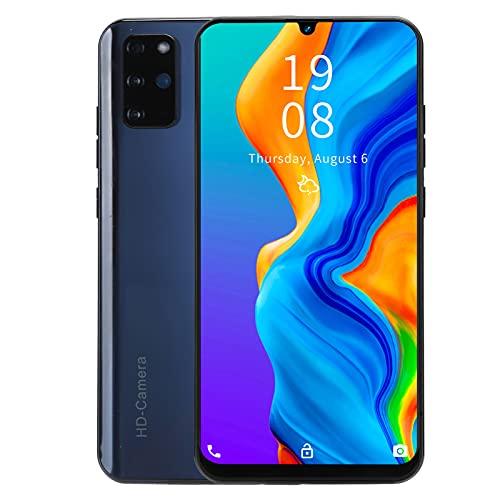Yunseity Teléfono Inteligente Desbloqueado, teléfono Inteligente con Pantalla de Gota de Agua HD de 7.2'Puerto Tipo-C Teléfono Inteligente Android Tarjetas duales Teléfono Inteligente 3G(Negro)