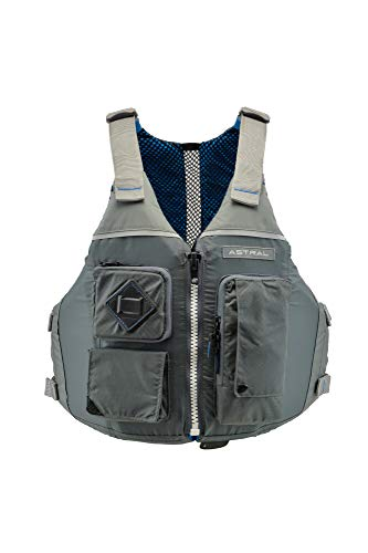 Astral Ronny Life Jacket PFD for Recreation, Fishing, and Touring Kayaking, Cloud Gray, L/XL