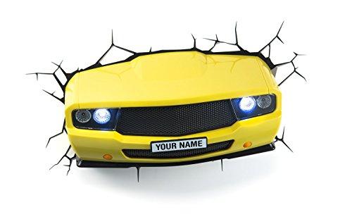 14207 3D Luce Deco LED Car Lamp 3D Geel