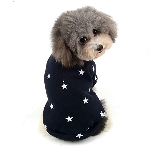 Ranphy Hundepullover für kleine Hunde, Fleece, für den Winter, Chihuahua, für Mädchen, Jungen, Jacke, bequem, Baumwolle, Größe S, Blau