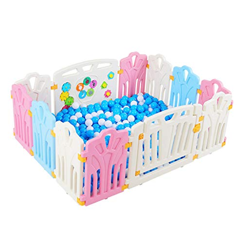 Review Of Portable Baby Area, 12 Panel Foldable Baby Playpen, Safety Yard Activity Center, Lockable ...
