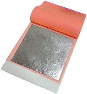 Edible Genuine Silver Leaf Transfer Sheets, 25 Leaves by THE GOLD LEAF COMPANY