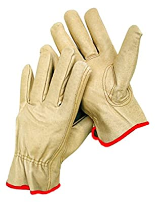 SMALL WORK GLOVES 12 Pair Durable Cowhide Leather for Construction, Industrial & Personal Use. Small to XX Large Sizes Available