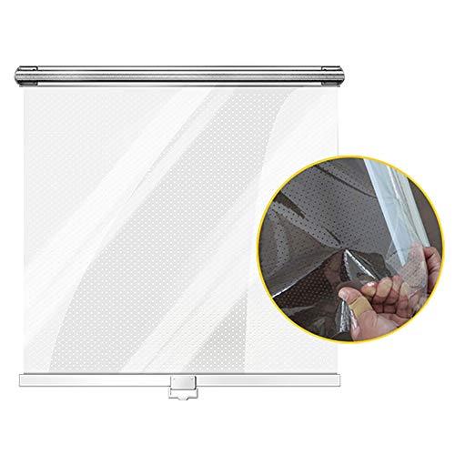Erru Rollos Clear Roll Up Blind für Supermarkt Gefrierschrank, Länge 120cm Mini Rollos mit Hardware, für Küche/Vitrine/Büro, Transparenter Vorhang (Size : W 110×L 120cm)