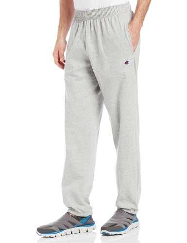Champion Men's Closed Bottom Light Weight Jersey Sweatpant, Oxford Grey, XX-Large