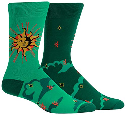 Sock It To Me Men's Crew Sun and Moon Socks