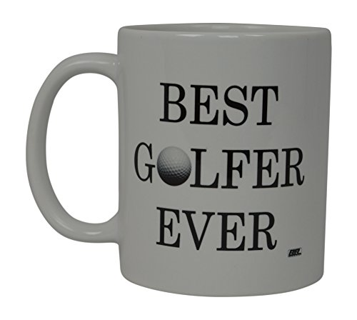 Best Funny Golf Coffee Mug Best Golfer Ever Ball Novelty Cup Joke Great Gag Gift Idea For Office Work Adult Humor Employee Boss Golfers